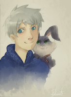 Jack Frost and Bunnymund 10 by saeru-bleuts