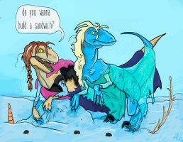 Frozenraptors by LauraXP