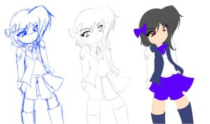 Sketch and Line Art..(More improvement x_X) by Roxii-Mirochan