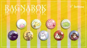 "Ragnarok 1"" Buttons by LittleMissSarah"