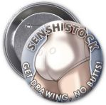 GET DRAWING, NO BUTTS - SenshiStock BUTTon! by SenshiStock