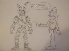 Suggested pic - night guard dett and springtrap by spyaroundhere35