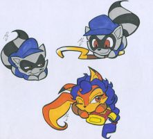 CHIBI SLY COOPER by WhiteFox89