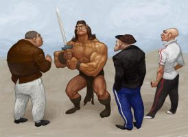 Conan vs gops by 0mad