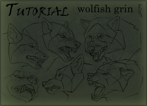 Tutorial wolfish grin by Brevis--art