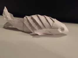 Origami fish with scales (Jo Nakashima) by Brickgenius27
