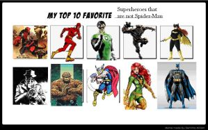 Top 10 Superheroes that are not Spider-Man. by fireemblemspider