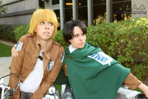 Attack on Titan: Armin Arlert, Corporal Levi by Scratch896