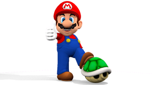 Mario and his Koppa Shell 3D Render (Blender 2.65) by MaxiGamer