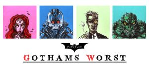 POST IT GOTHAMS WORST by QuinteroART