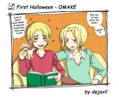 first halloween omake by dejavil