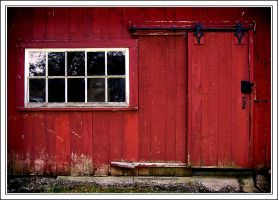 Red Barn Door II by Eaglewolf