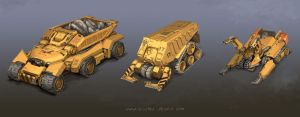 Mining Vehicles by MikeDoscher
