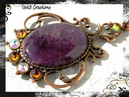 Purple and Copper Pendant With Swarovski Elements by kelleejm1