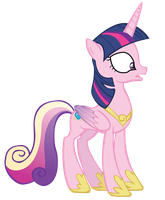 Princess Cadance with Twi's mane vector by FluttershyElsa