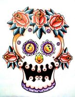 Day of the Dead Skull by ramworship