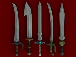Low Poly Swords by BlooCoops