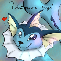 Vaporeon Day by fuegodelalma