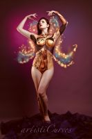 Gold Faerie Body Paint I by oldmacman