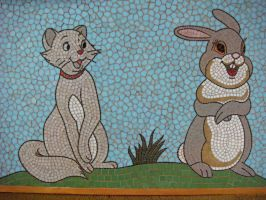 THUMPER, DUCHESS DETAIL by paulbullmosaics