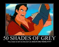 Gaston Reads 50 Shades Of Grey by LivingShadowDarkMark