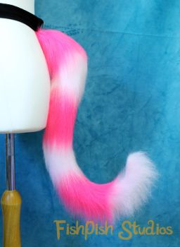 Cheshire Cat Styled Striped Cat Tail by LiChiba