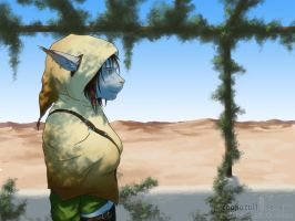 The hooded girl by Ragnarulf