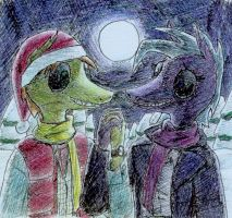 Holding hands in the snow... by Jahchildren