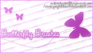 Butterfly Brushes by VampyreGoddess