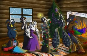 Christmas/Winter Contest Entry: Decorating by DreamWithinTheHeart