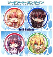 Sword Art Online Button Set by jinyjin