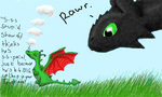 Toothless + Toothless :P by lostdesertfan