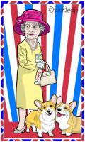 Queen diamond jubilee 2012 Cartoon by pickledjo