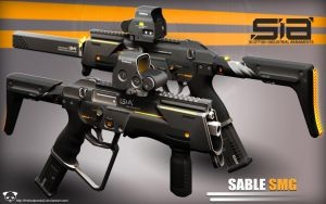Sable SMG by TheBadPanda2