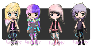 funCatty Collab :: Pastel/Goth :: 1 LEFT by Doggy-Adopts