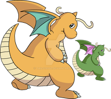 149 - Dragonite - Art v.3 by Tails19950