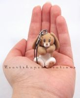 Bunny Mobile Charm by HeartshapedCreations