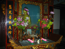 Buddhist Temple Alter by gray929