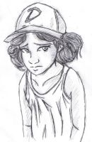 Clementine Sketch: The Walking Dead Game by frankaraya