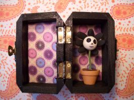 mini skele-flowers by alteredboxes