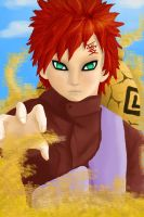 Gaara of the Sand by AkumaRyoshi