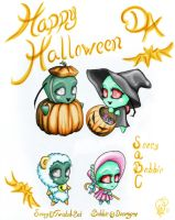 Halloween Chibis SaBC by Aphilien
