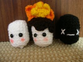Life and Death of a marshmallow-Amigurumi Version by CataCata23