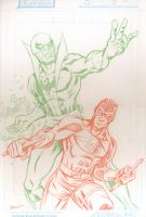 Ironfist and Daredevil by Schoonz