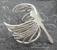 aluminum dragonfly cuff by thebluekraken