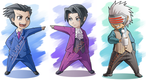 Phoenix Wright Chibi by silverava