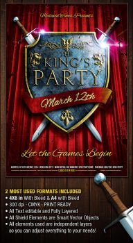 The-King-Party-Flyer by PVillage