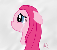 Pinkamina cry by SaintRiddle