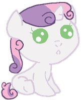 Baby Sweetie Belle by canineEnthusiast