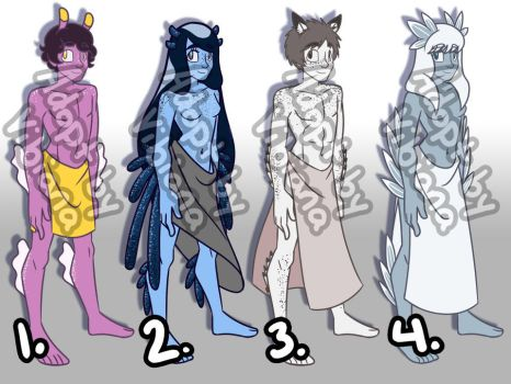 [OPEN] FLAT SALE! Nudibranch Inspired Adoptables by Vibiana